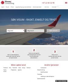 Корпоративный сайт для Норвежской компании