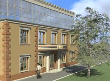Визуализация здания банка