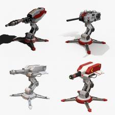 "Sci-fi turret для гри ""tower defense"""