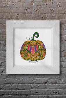 "Fancy pumpkin for ""funkypumpkin challenge"""