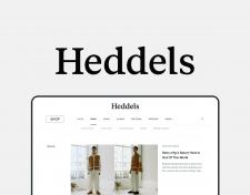 Редизайн сайта Heddels