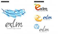 """логотип  для CMS """"Exlm"""""""