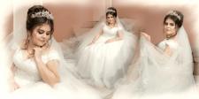 Страничка из свадебной фотокниги.