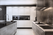 Design kitchen / Дизайн кухни hi-tech