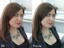 Ретушь: Устранение дефектов кожи, цветокоррекция