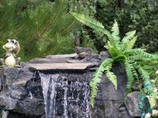 Водопад возле бассейна.