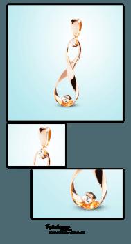 Ювелирная фотосъемка золотого кулона