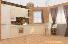 Визуализация кухни-столовой (кухня)
