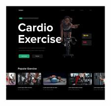Дизайн Фитнес сайта