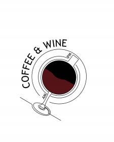 """Logo для кав'ярні """"Coffee & Wine"""""""