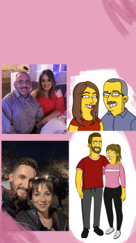 Портреты в стиле симпсонов на заказ