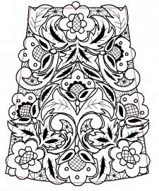 рисунок орнамента на рукав
