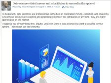 Data-science-related careers