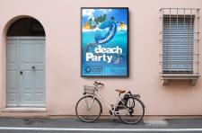 Дизайн рекламной афиши для вечеринки у басейна