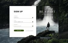Дизайн формы регистации