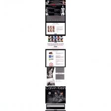 Веб-дизайн для Calvin Klein