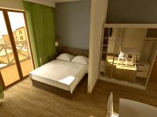 Курортный апартамент, 27 м.кв, отделка 2