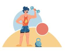 Иллюстрация для сайта о здоровом образе жизни