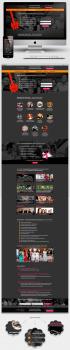 """Дизайн Landing Page """"Проведение выпускных вечеров"""""""