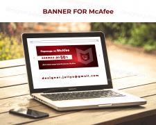 Баннер / Banner for McAfee AntiVirus