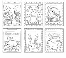 """Детские раскраски """"Easter bunny"""" 1"""