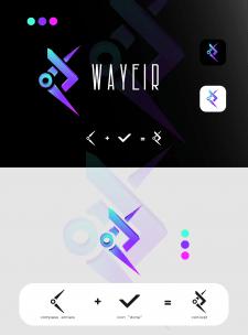 """Логотип для приложения карты """"WAYEIR"""""""