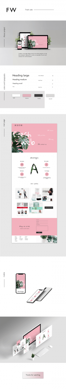 landing page for design studio
