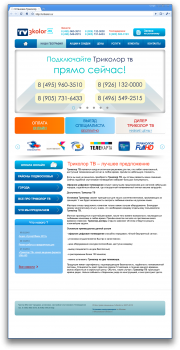 Web site design for the sale of satellite TV