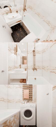 Дизайн ванной комнаты в стиле современная классика