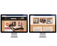 Дизайн интернет магазина фирменной мебели Comfort