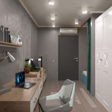 Дизайн-проект + визуализация 1к квартиры. Спальня