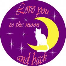 """Принт """"Люблю тебя до луны и обратно"""""""