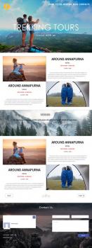 Landing page для туризма
