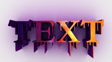 3D text