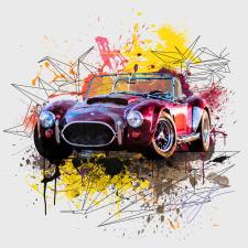 Shelby AC Cobra in splash ink style