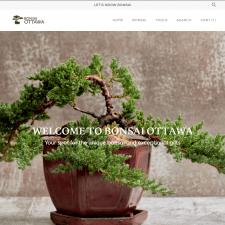Shopify интернет-магазин Bonsai Ottawa