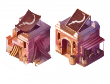 Этап развития здания в изометрии