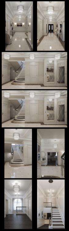 дизайн коридора в класиці