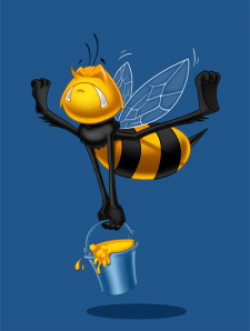 bee hard worker