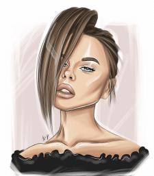 Арт портрет, цифровой портрет, иллюстрация