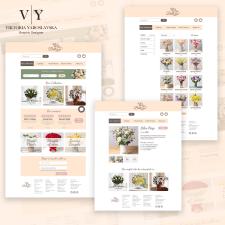 Дизайн для цветочного интернет-магазина в Figma