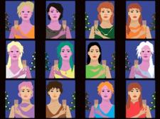 12 дівчат китайськогогороскопу (рік свині, миші..)