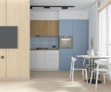 Дизайн кухни-гостиной ,3д модел-ние и виз-ция.