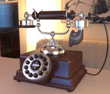 Кнопочный ретро-телефон №1
