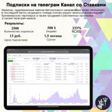 2.500 подписчиков на Канале со Ставками в ТГ