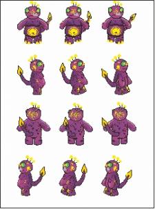 Пиксельный рисунок персонажа для игры на смартфон