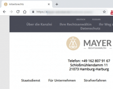 Внедрение SSL для адвоката из Германии