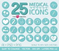 Иконки на медицинскую тематику
