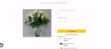 Интернет-магазин цветочных букетов на Shopify