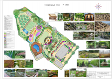 Генеральный ландш. план участка в Тульской области